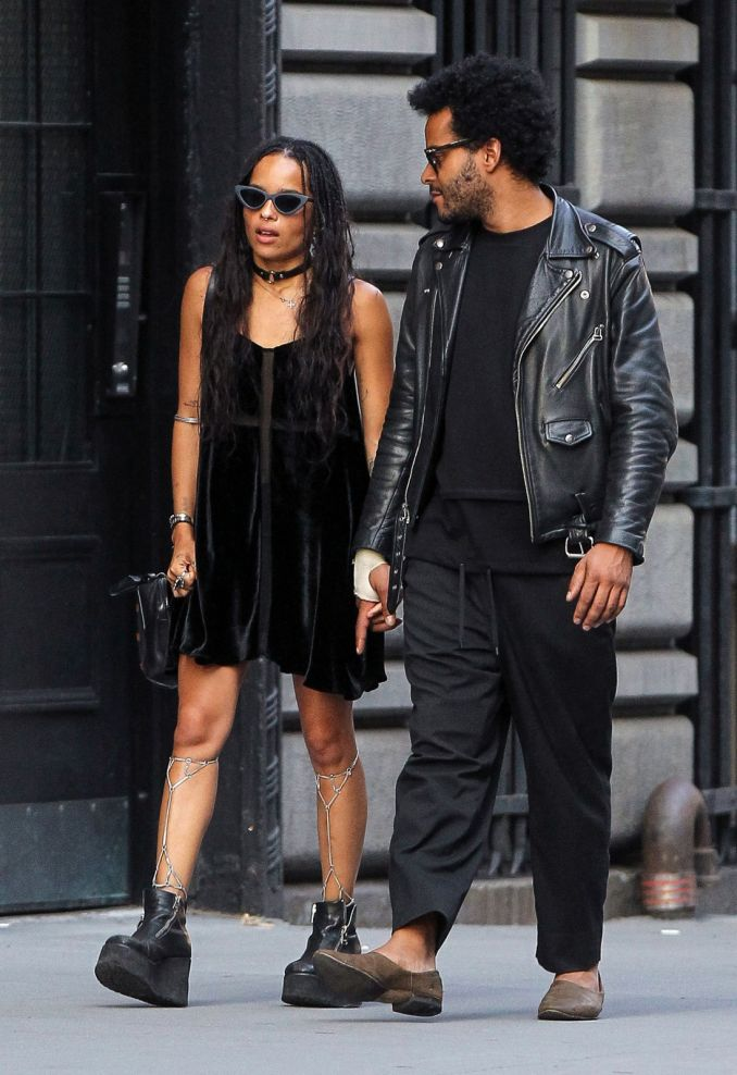 Zoë Kravitz ir George'as Lewisas Jr.